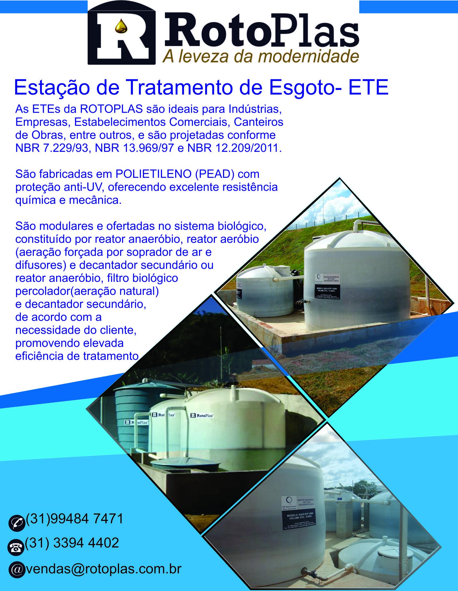 Estação de tratamento de esgoto-ETE